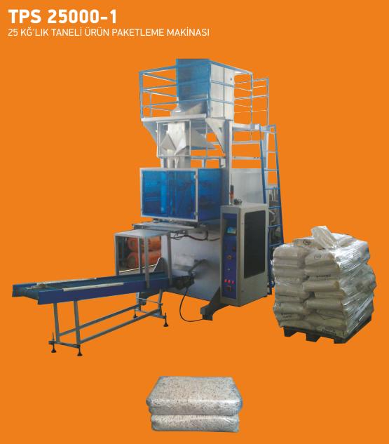 tps 25000-1 25 kglik tanil urun paketleme